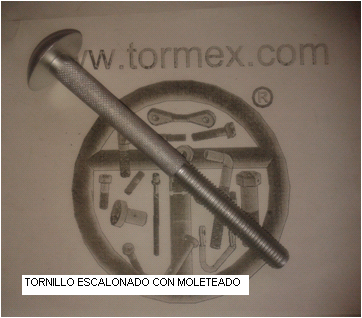 Tornillo escalonado moteado
